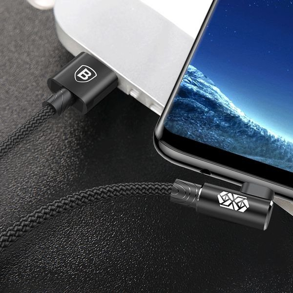 Baseus MVP Elbow Type Cable USB For Micro 1.5A 2M черный — фото