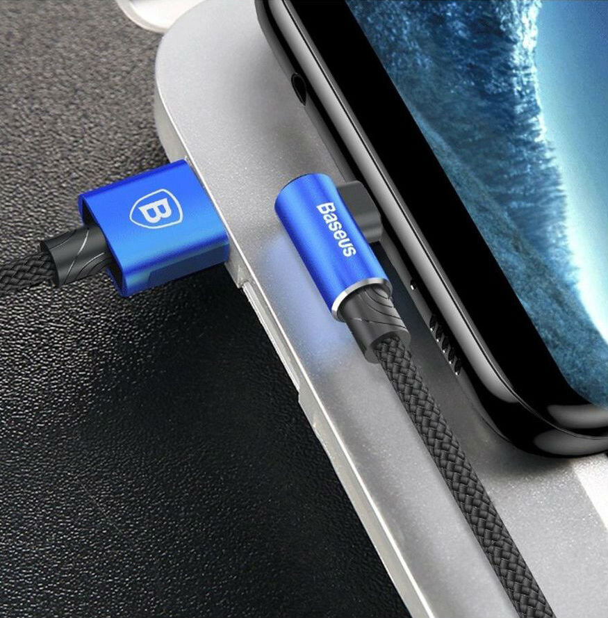 Baseus MVP Elbow Type Cable USB For Micro 1.5A 2M синий — фото