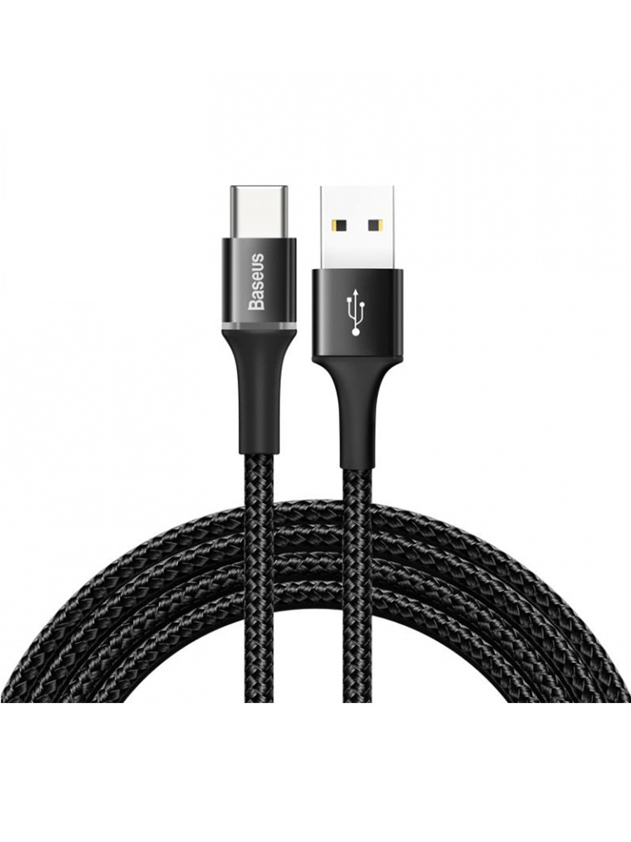 Baseus halo data cable USB For Type-C 3A 0.25m черный — фото
