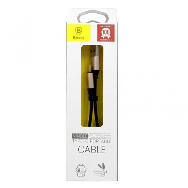 Baseus Nimble Type-C Portable Cable 23CM Золотой CATMBJ-0V — фото