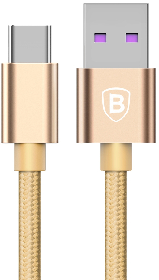 Baseus Speed Type-C QC Cable For HUAWEI Type-C Золотой CATKC-0V — фото