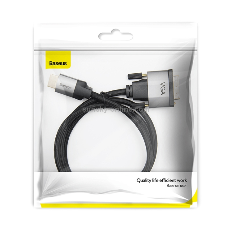 Baseus Enjoyment Series HD Male To VGA Male Adapter Cable 2m Темно серый CAKSX-K0G — фото