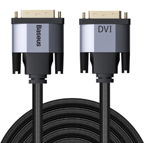 Baseus Enjoyment Series DVI Male To DVI Male bidirectional Adapter Cable 1m Темно серый CAKSX-R0G — фото