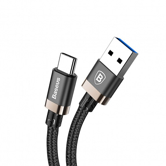 Baseus Golden Belt Series USB3.0 Cable For Type-C 1m Черный+Золотой CATGB-1V