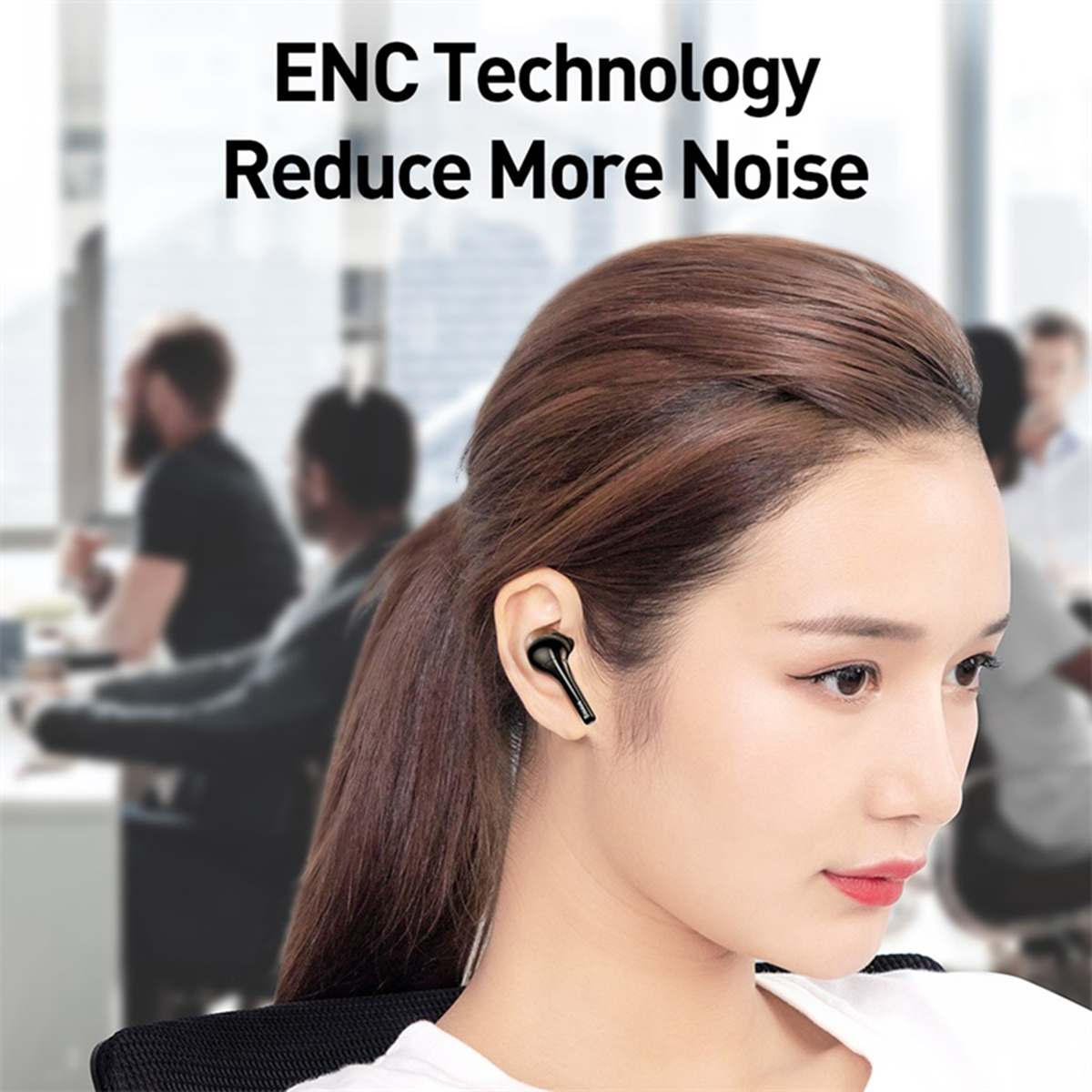Baseus Encok True Wireless Earphones W07 Черные NGW07-01